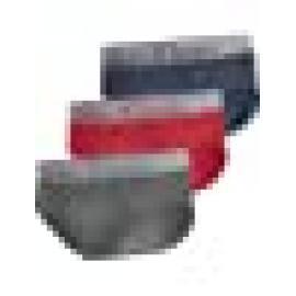CALVIN KLEIN  SLIP PACK - 3 NB2452A-KHX   C.GRIS/ROJO/AZUL T.L/G