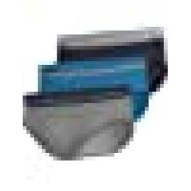 CALVIN KLEIN  SLIP PACK - 3 NB2452A-KHX   C.GRIS/ROJO/AZUL T.S/P